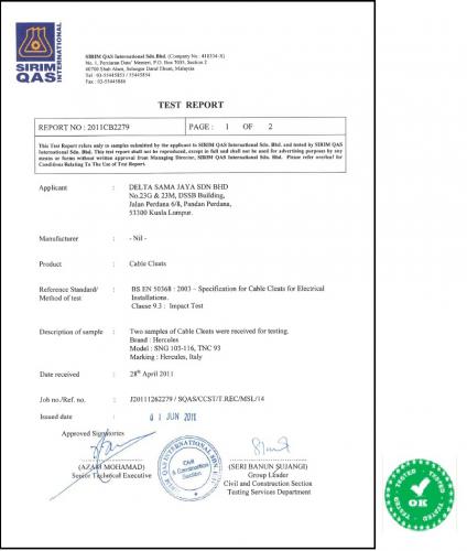 SNC Certificate